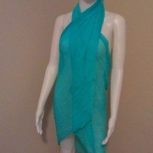 Sheer turquoise wrap